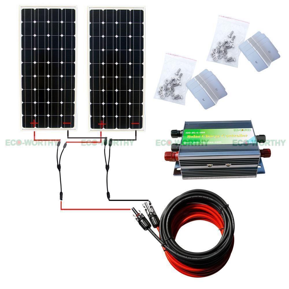 300w 2x150w 12v Solar Panel Full Kit Products Pinterest Power Wiring Survival Skills