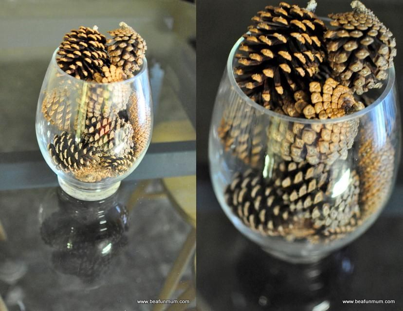 Table feature for christmas winter wedding pinterest fir cones table feature for christmas solutioingenieria Image collections