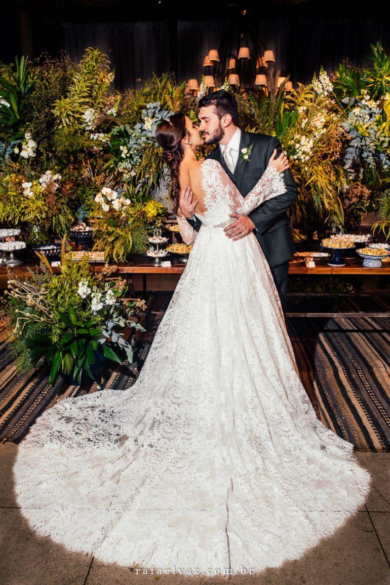 924a457ae6 Vestido de noiva todo de renda para casamento rústico-chique ...