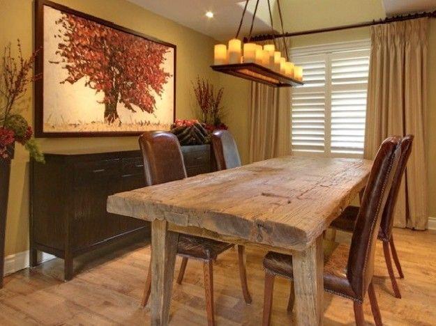 Tavoli in legno su pinterest tavoli da pranzo sedie - Legno grezzo mobili ...