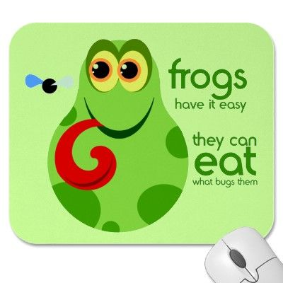 Cute Green Frog Quote Mousepad Frog quotes