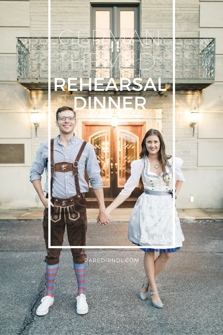 German Inspired Wedding Rehearsal Raredirndl