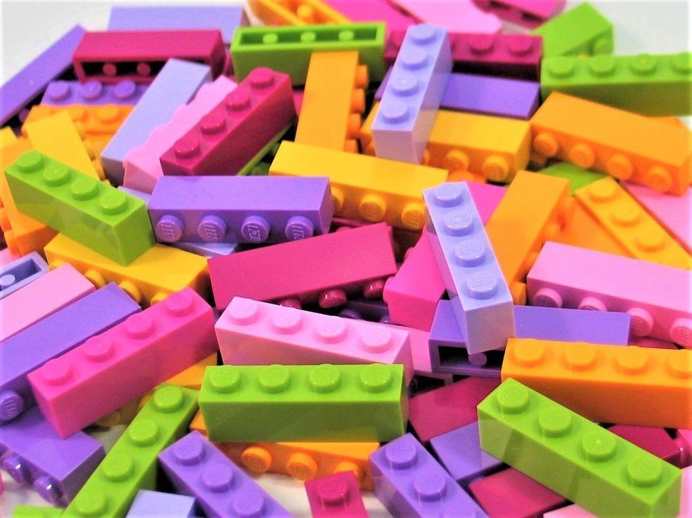 New LEGO Lot of 4 Magenta 1x6 Building Bricks