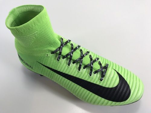 9aff7a74b77 SR4U Gray Camo Soccer Laces on Nike Mercurial Superfly 5 Radiation Flare  Pack