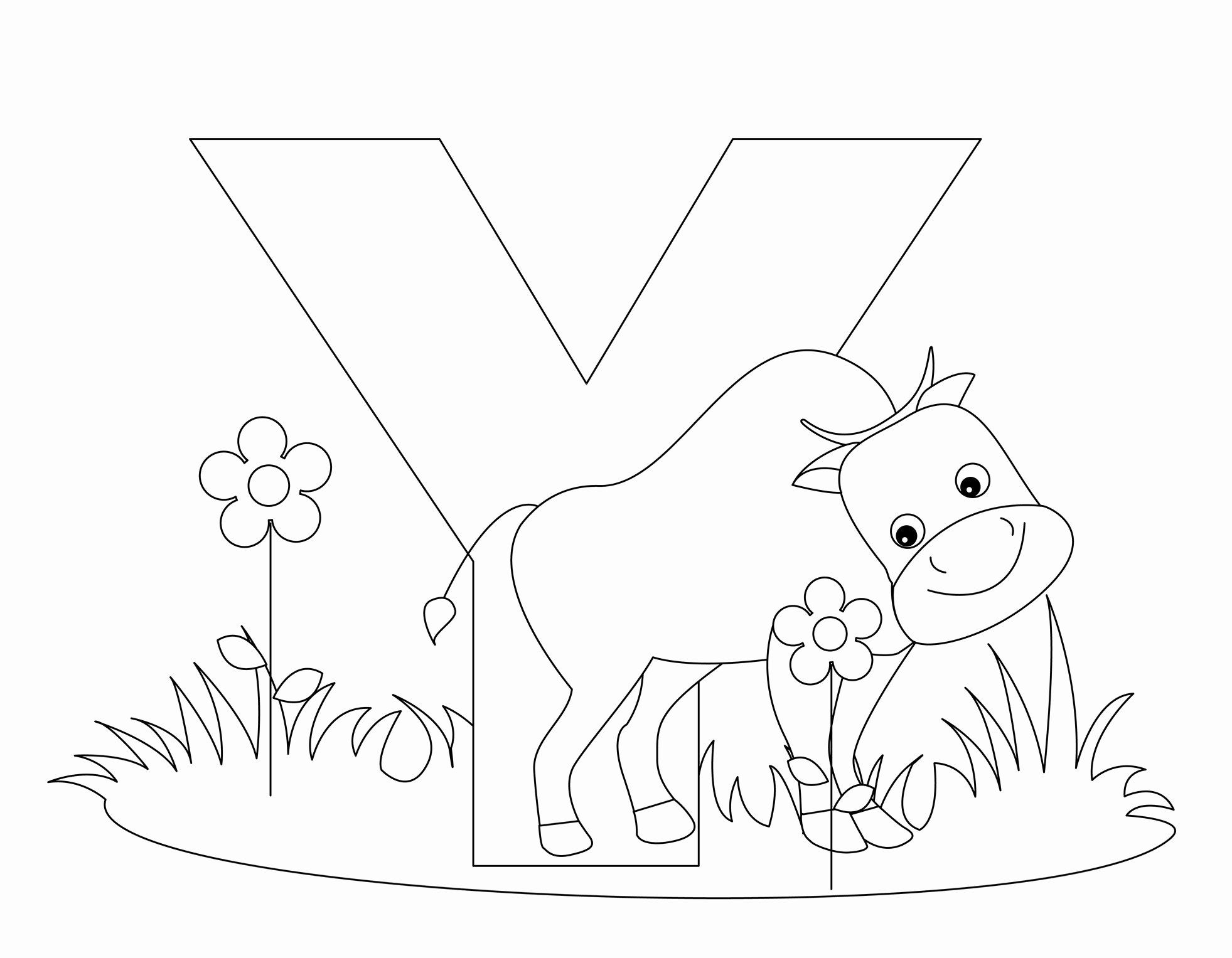Letter Y Coloring Page In 2020 Abc Coloring Pages Alphabet Coloring Pages Letter A Coloring Pages