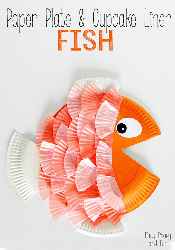 Paper Plate Cupcake Liner Fish Kid Blogger Network Activities