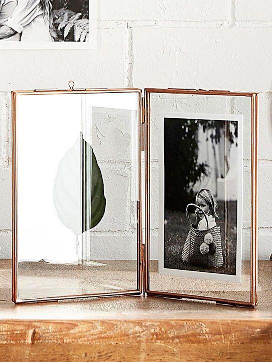 17,90 € cadre photo de style ancien finement bordé de métal cuivré