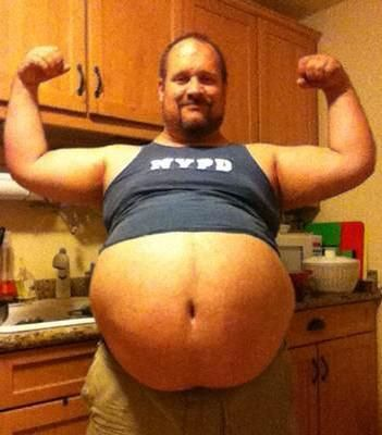 Chubby com fat gay man