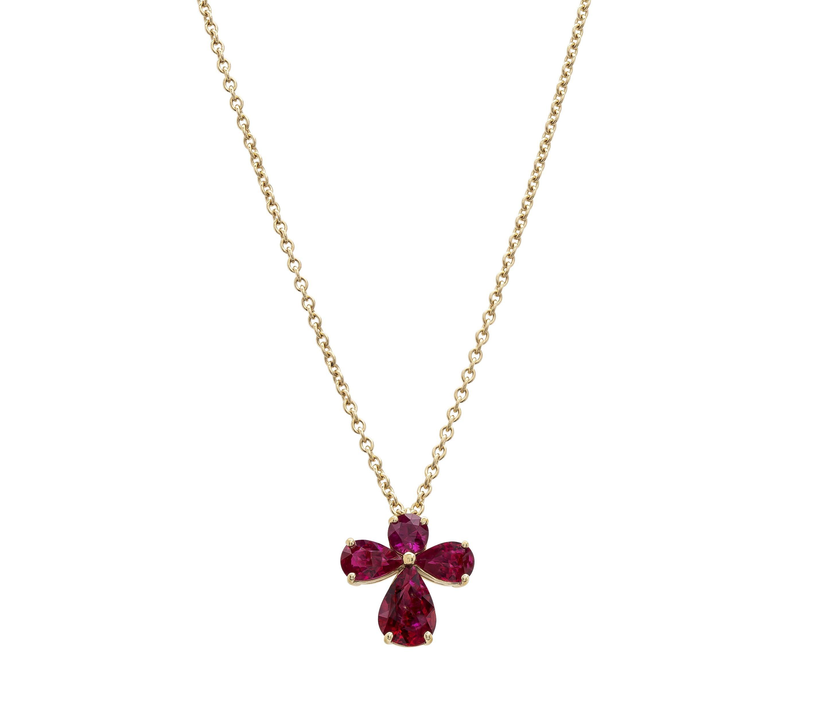 Gordon james carat ruby angel pendant set in k yellow gold