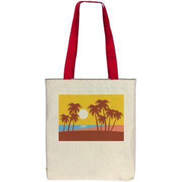 Beach Scene Tote | Beach Scene Tote Bag