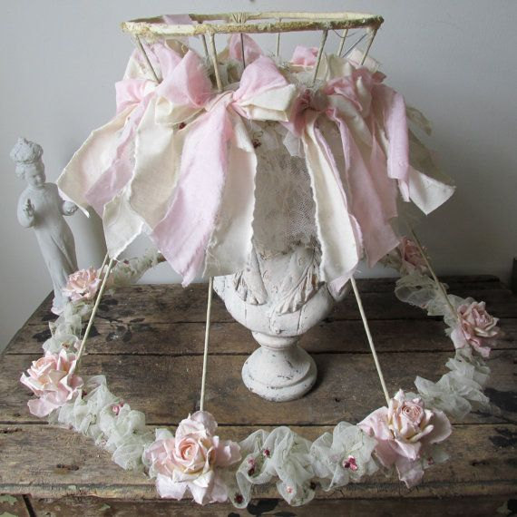 Pink shabby cottage lamp shade embellished by anitasperodesign pink shabby cottage lamp shade embellished by anitasperodesign aloadofball Gallery