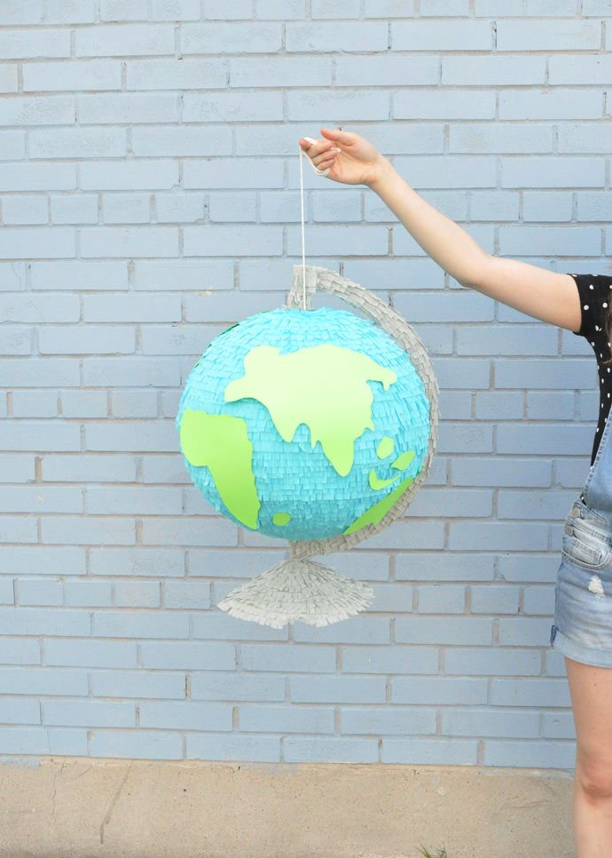 giant globe back to school pinata back to school. Black Bedroom Furniture Sets. Home Design Ideas