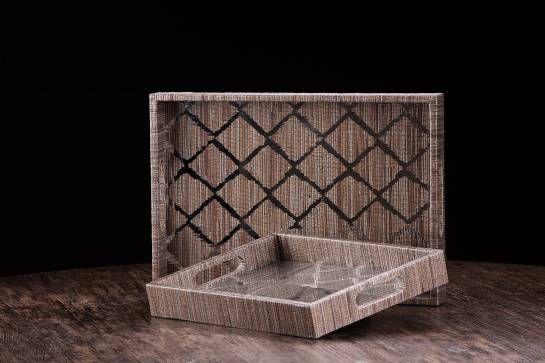 Tippi Painted Mirror and Grass Trays - Mecox Gardens #Mecox #interiordesign #home #decor #design #MecoxGardens