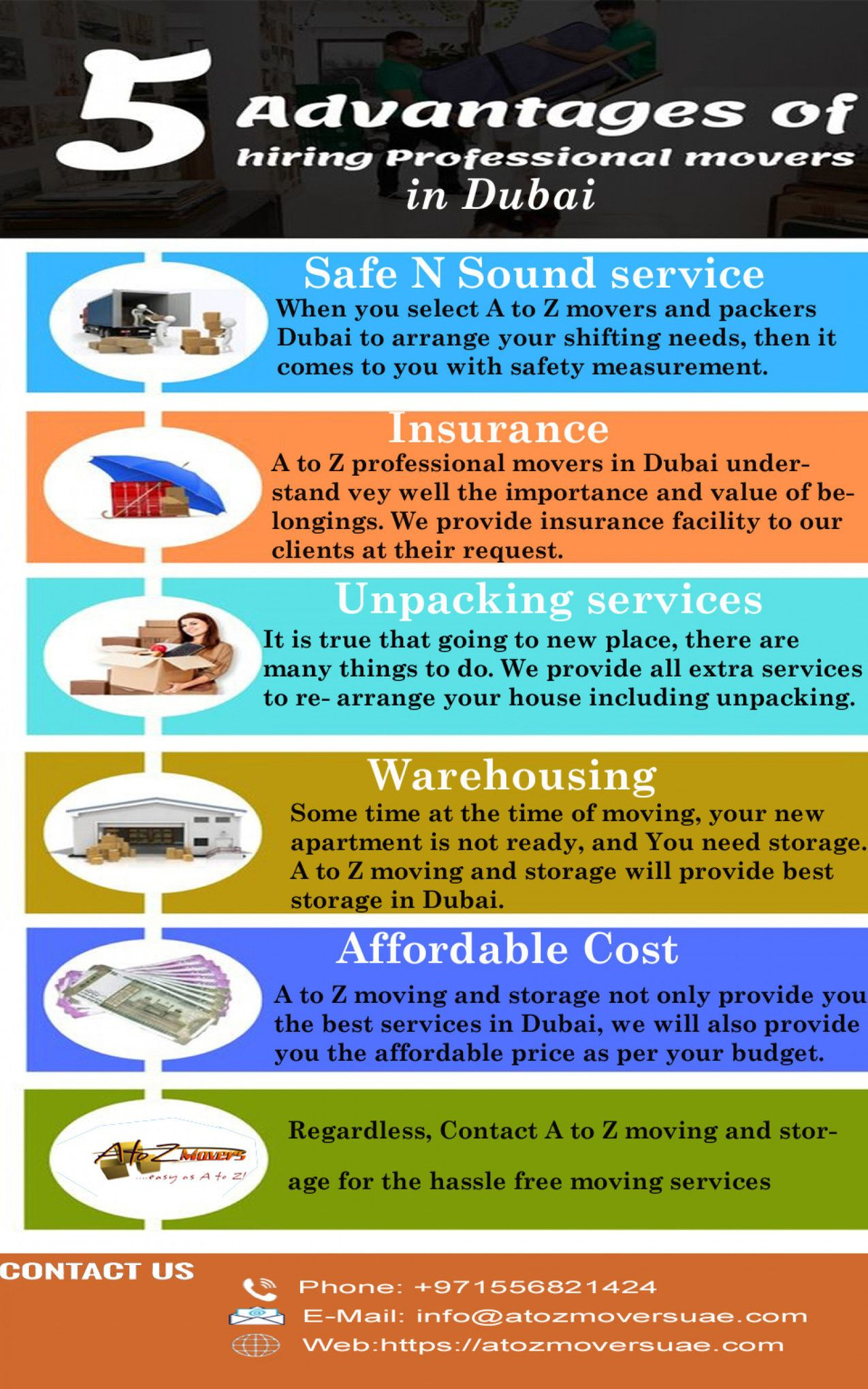 Get 5 Benefits To Get Hire A To Z Movers In Dubai Mover Company