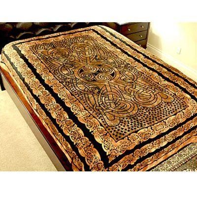 Brown Celtic Design Tapestry Bedspread Celtic Designs