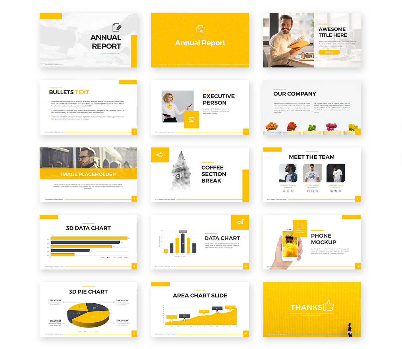 Annual Report Powerpoint Template Pixelify Best Free Fonts Mockups Templates And Powerpoint Template Free Presentation Template Free Powerpoint Templates