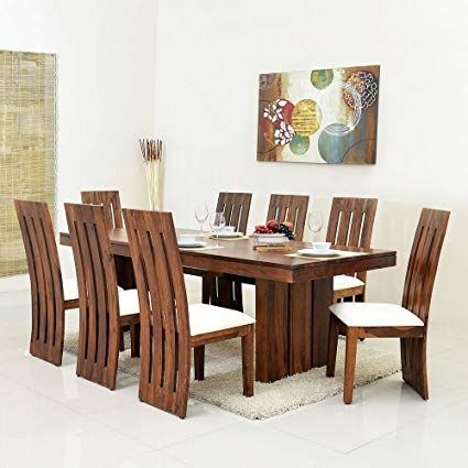 8 Chair Dining Table Designs In 2020 Wooden Dining Table Designs Wooden Dining Table Set Dining Table Design