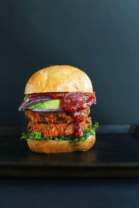 Sweet Potato Black Bean Burger | minimalistbaker.com
