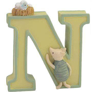 Winnie The Pooh Ceramic Letters N
