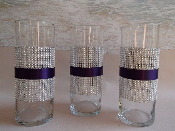 This Bling Vase Is Made With Silver Diamond Mesh And The