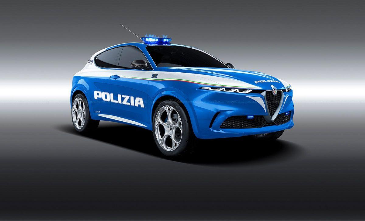 Alfa Romeo Tonale con livrea della Polizia ipotizzato in ...