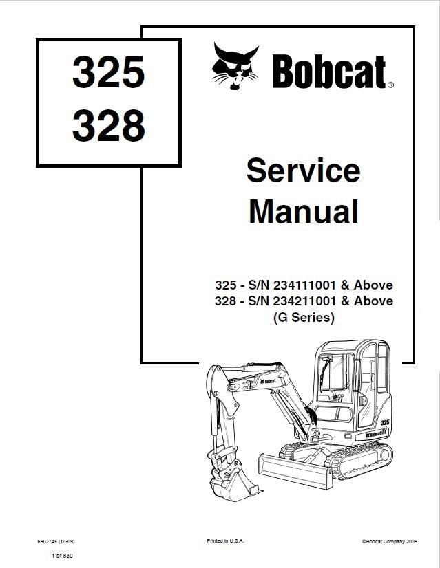 click on the image to download Bobcat 325 , 328 Hydraulic