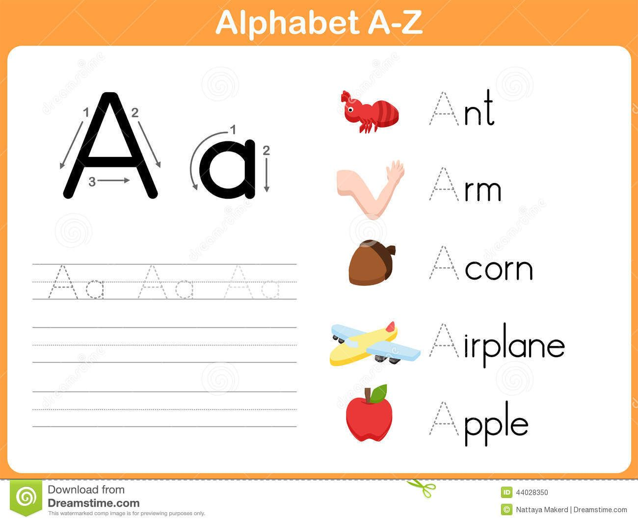 Chic Traceable Alphabet Worksheets A Z For Your Alphabet