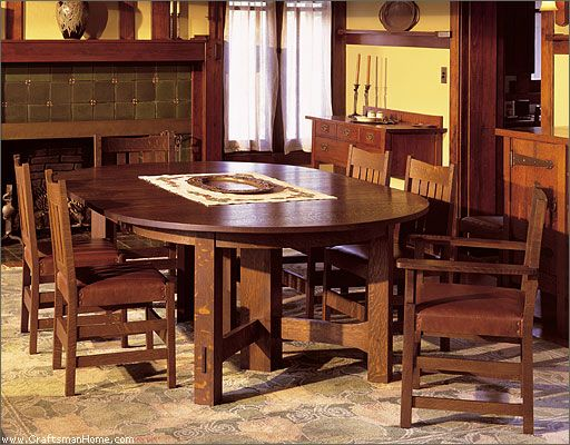 Dining Table Craftsman Dining Room Mission Style Furniture Craftsman Furniture
