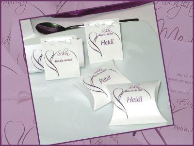 Hochzeitskarten Blute Lila Gastgeschenke Pinterest