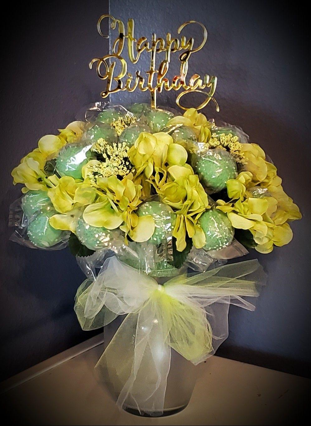 Happy birthday cake pop bouquet cake pop bouquet flower