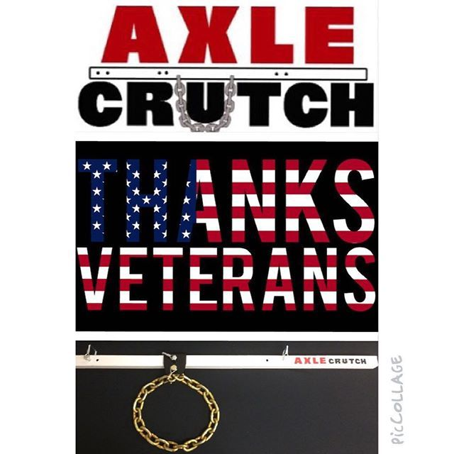 In honor of all our veterans, past and present, we salute our troops this Veteran\'s Day by extending a special 25% discount through November 30, 2015.  Use Coupon Code: USA2015 at checkout at www.AxleCrutch.com - Makes a great holiday gift for the tow\'er or rv\'er in your life!