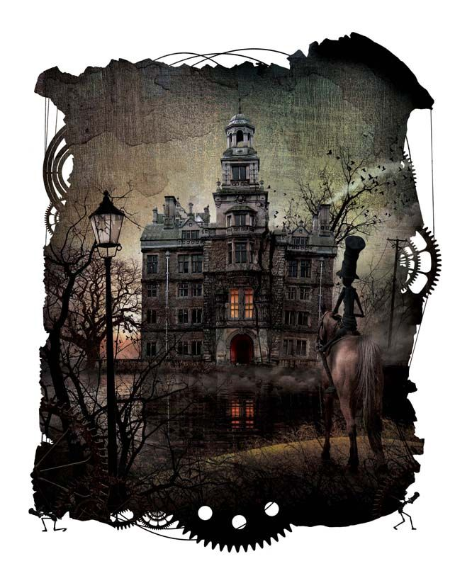 Steampunk Poe The Fall of the House of Usher. Illustrated
