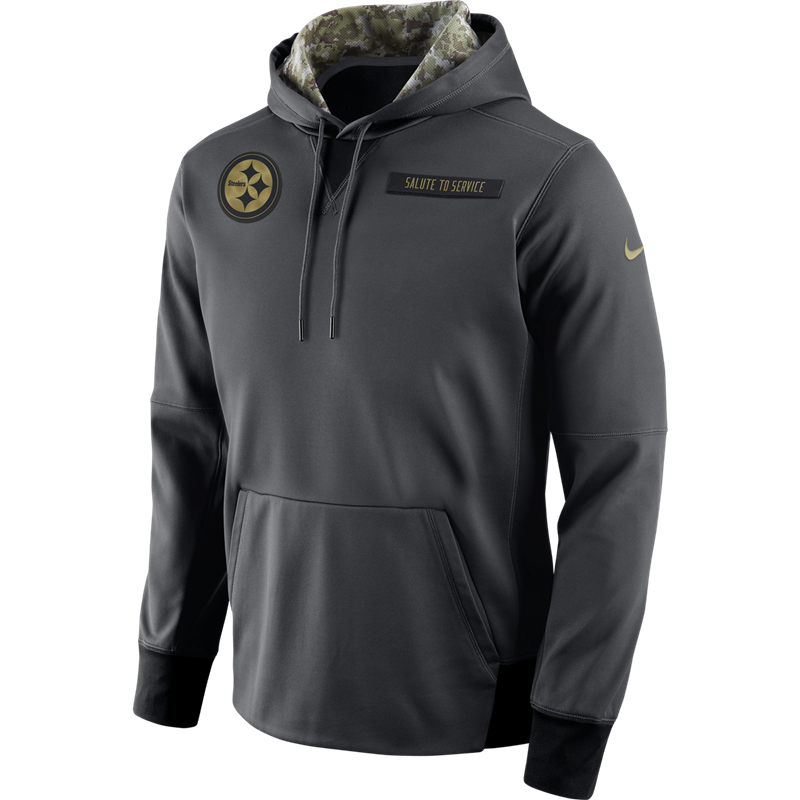 detailed look 70ba7 cb853 Pittsburgh Steelers Nike Salute to Service (STS) Pull-over ...