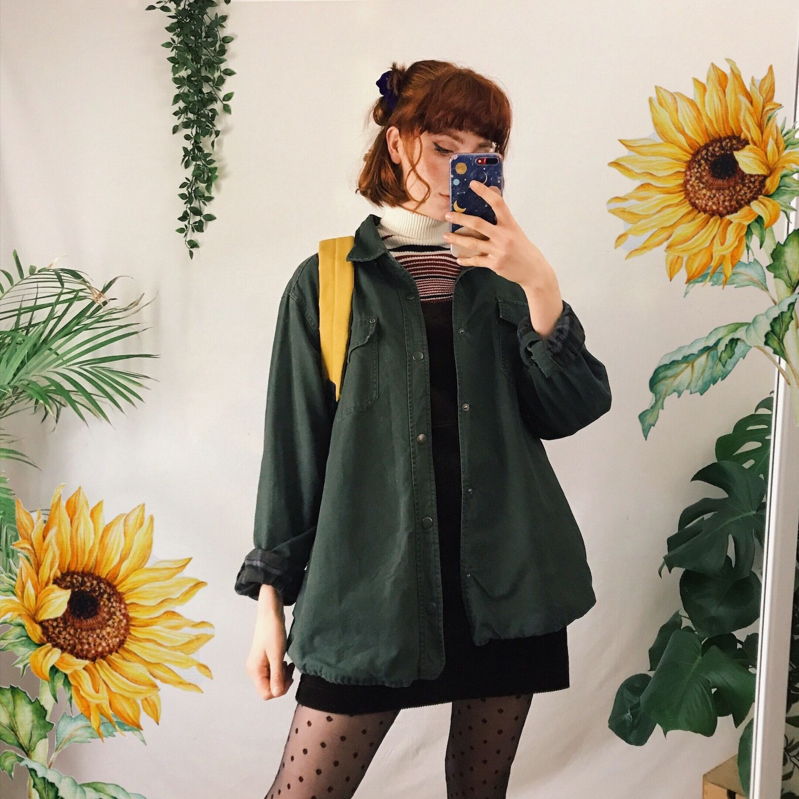 Beautiful forest green denim jacket. Lovely slouch