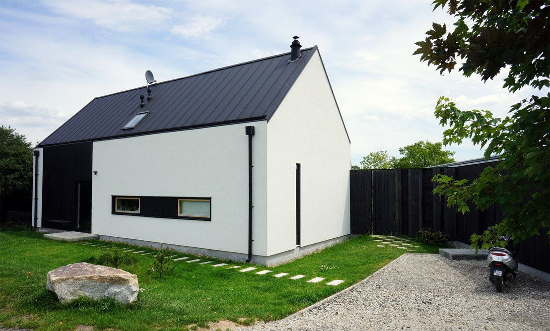 Modernes Einfamlilienhaus. #KOLORAT #Haus #Fassade #Fassadenfarbe ...