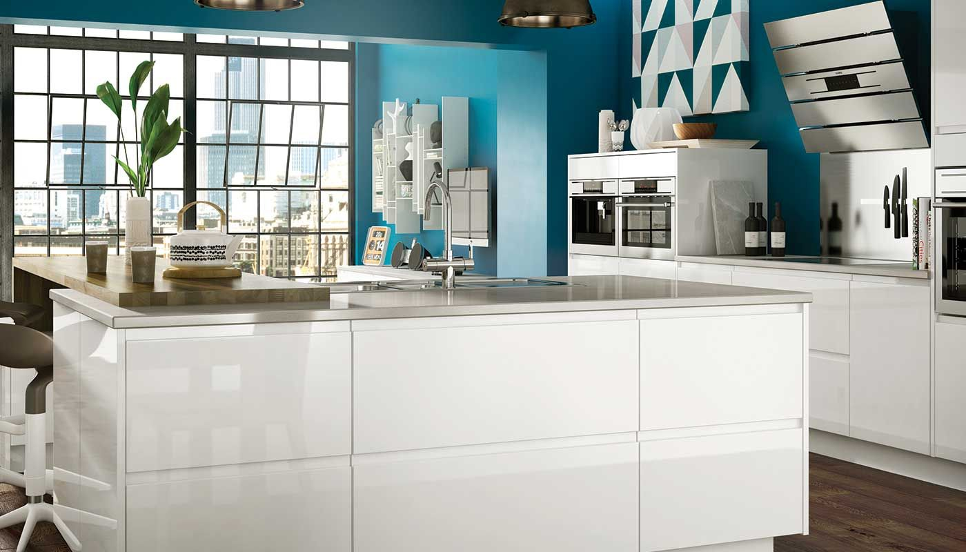 White High Gloss Kitchen Units Benchmarx Holborn Decoraassalbo Pinterest Nice The Ojays And