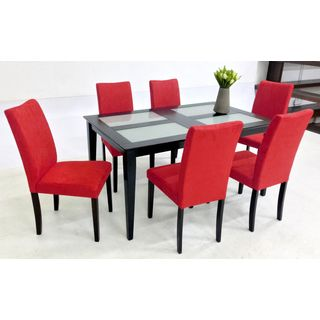 Red And Black Dining Room Chairs Red And Black Dining Room Sets Red ...