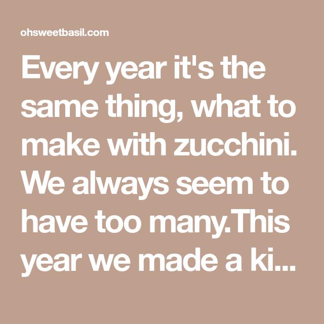 Zucchini Pizza Crust - Oh Sweet Basil