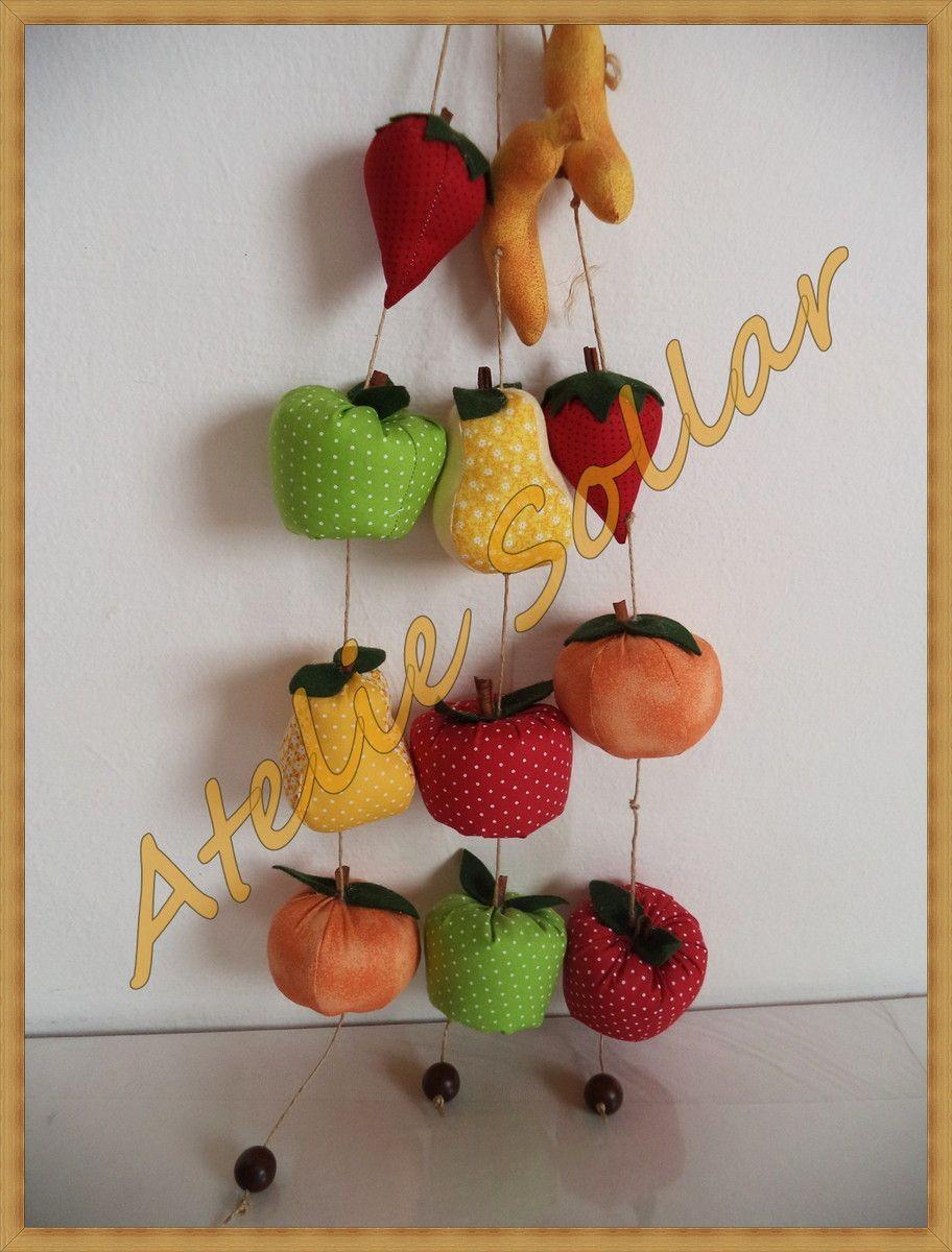 Mobile De Frutas Em Tecido Com Imagens Artesanato Em Tecido