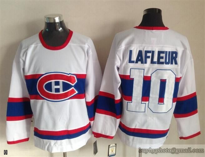 2015 New NHL Canadiens  10 Lafleur Embroidered Vintage White Jersey ... 8a8ae5937