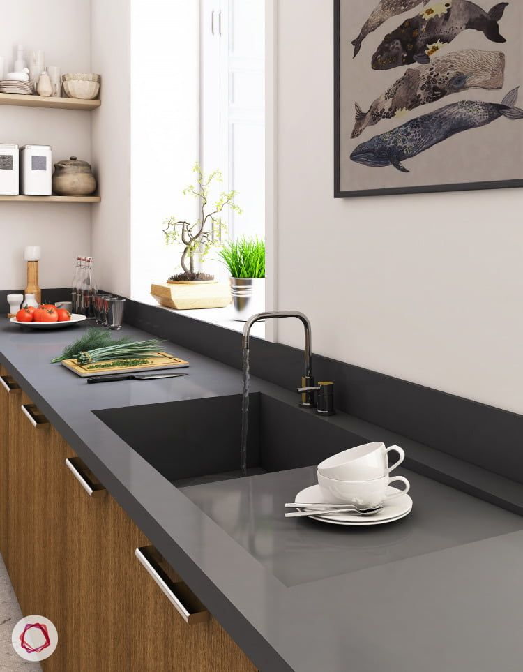 Types Of Kitchen Sinks Available In India Kitchen Sink Remodel Kitchen Sink Design Installing Kitchen Countertops