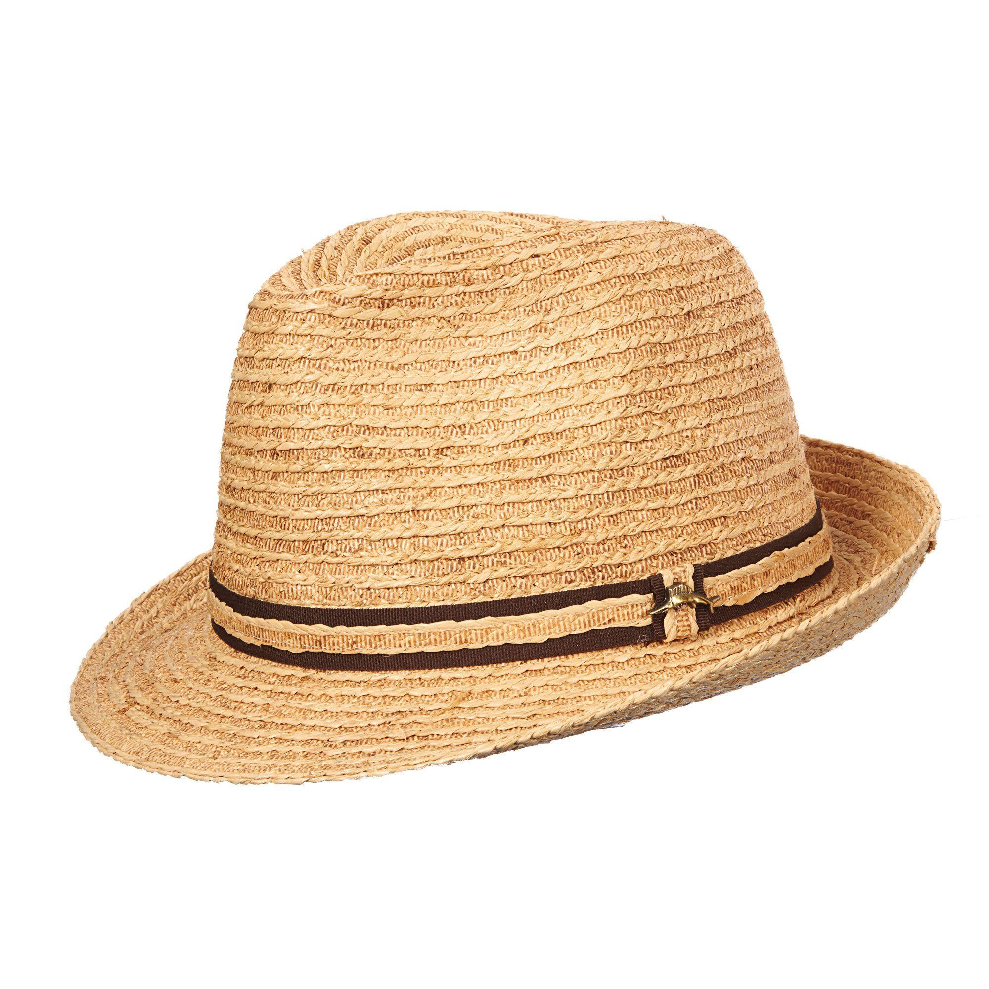 Tommy Bahama Raffia Straw Fedora Hat  e17bfc4d5bd1
