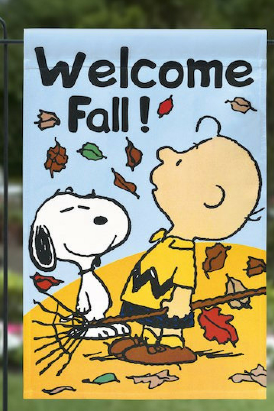 I Need This Welcome Fall Garden Flag Peanuts Fall Autumn Leaves Ad Oybpinners Banner Flag Decor Decoration Welcome Fall Snoopy Love Snoopy