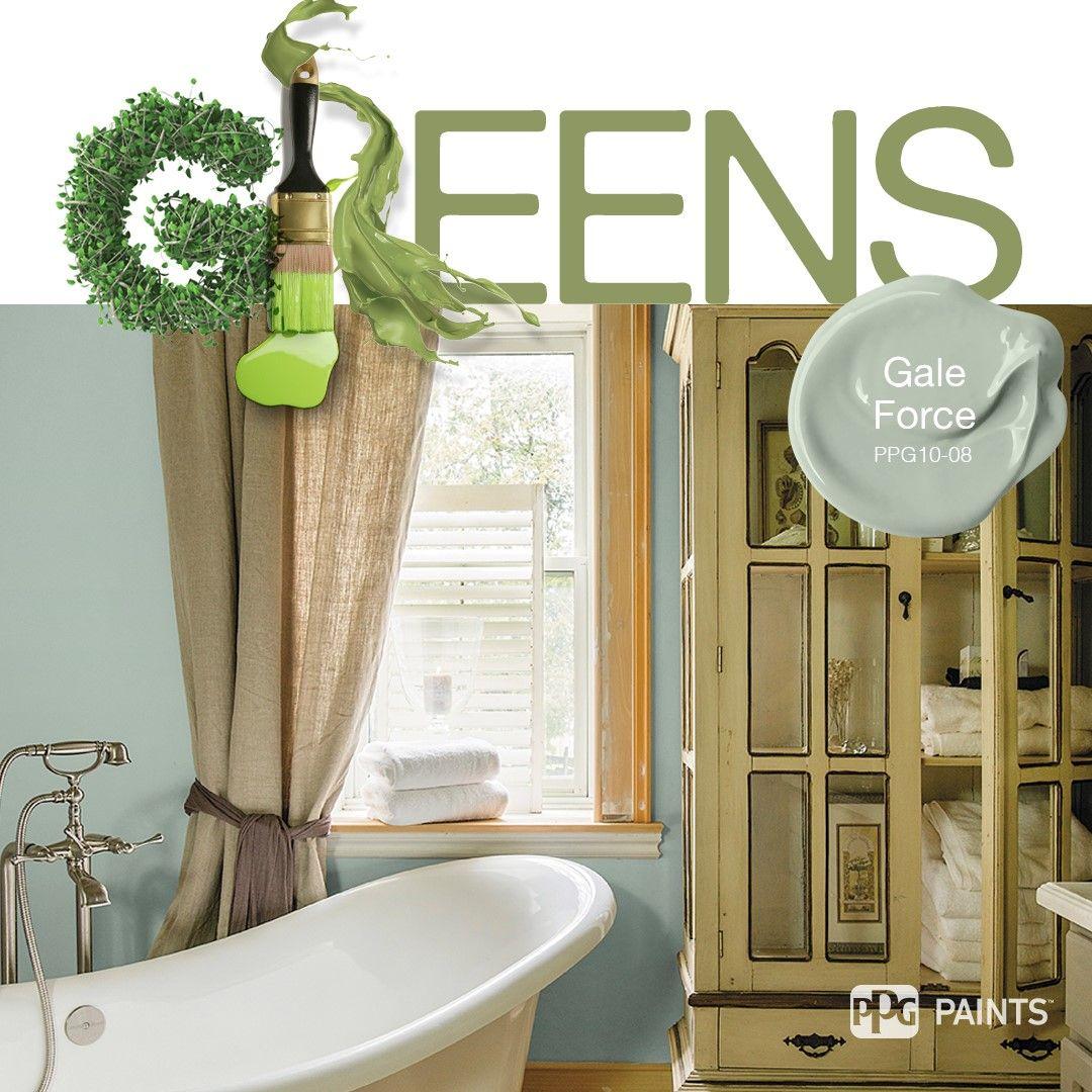 Green paint colors for bathroom - Trending Green Paint Colors Soft Green Bathroom Color Inspiration Paint Color Gale Force By