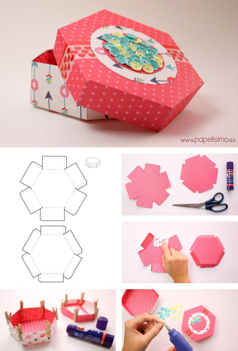 4 cajas de cartulina para regalo de scrapbooking con - Como hacer una cajita con cartulina ...