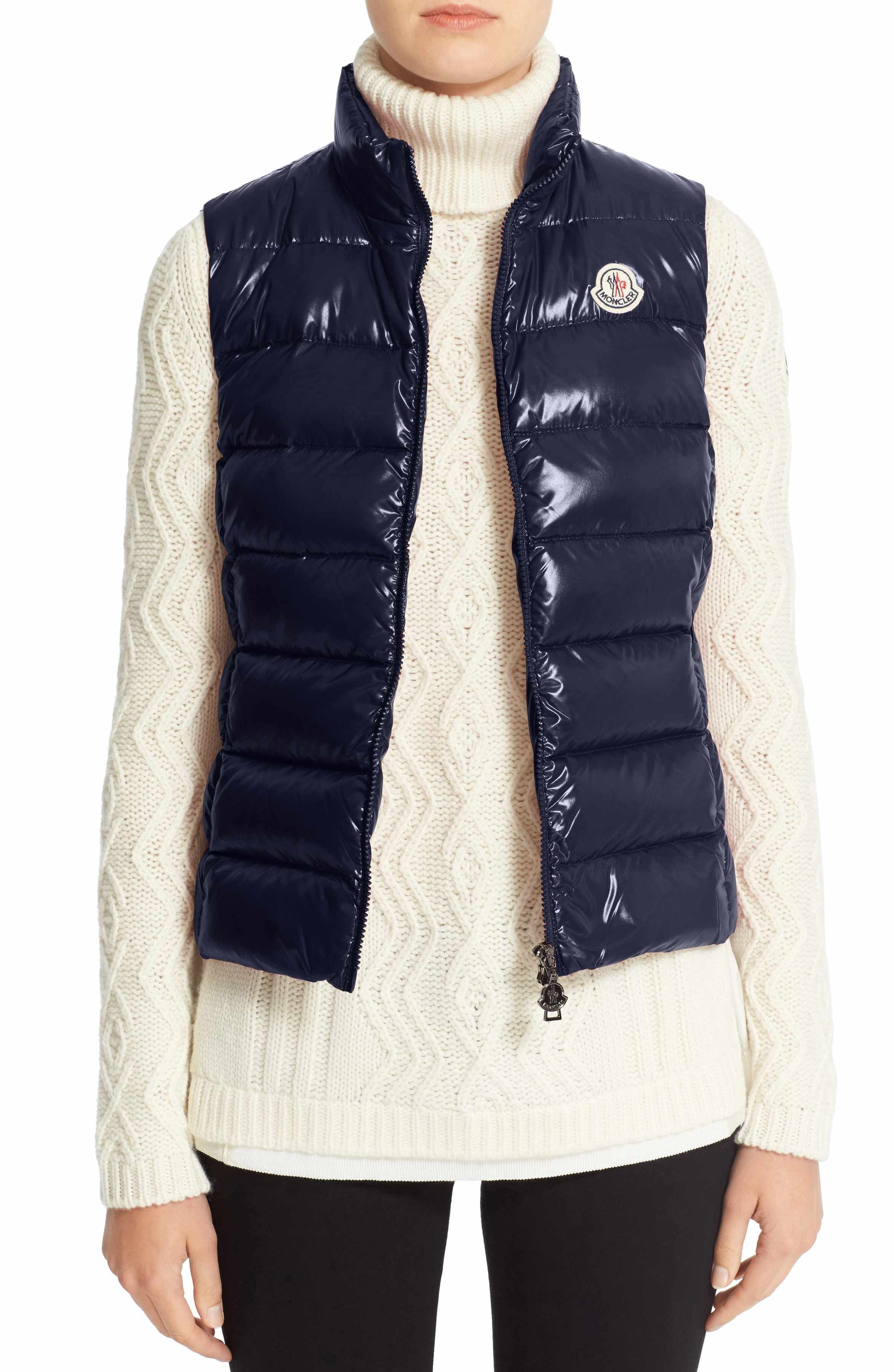 895aa0dcf Main Image - Moncler Ghany Water Resistant Shiny Nylon Down Puffer ...