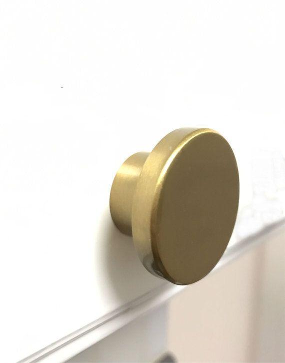 European Brass Cabinet Knob Drawer Pull - Round   Pinterest ...