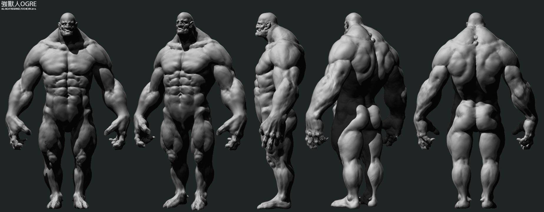 ArtStation - Ogre, YuChi Chin | 3D Muscle male | Pinterest | 3d ...