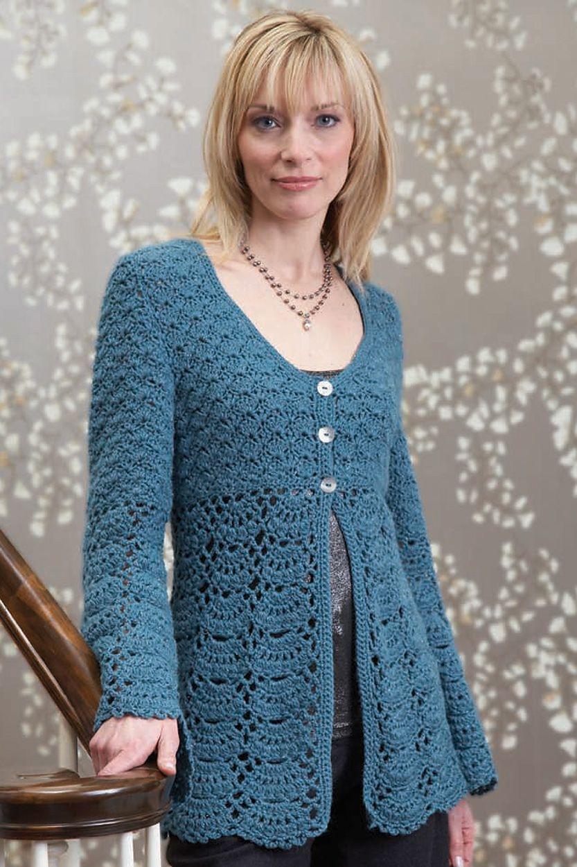 Ravelry Crochet Cardigan by Gayle Bunn Suéter de