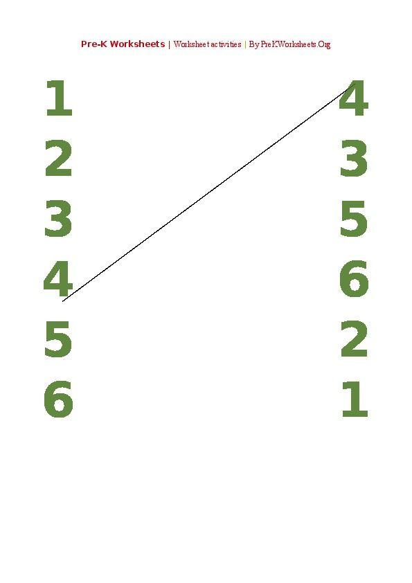 PreK Preschool Number Matching Activities PDF Numbers